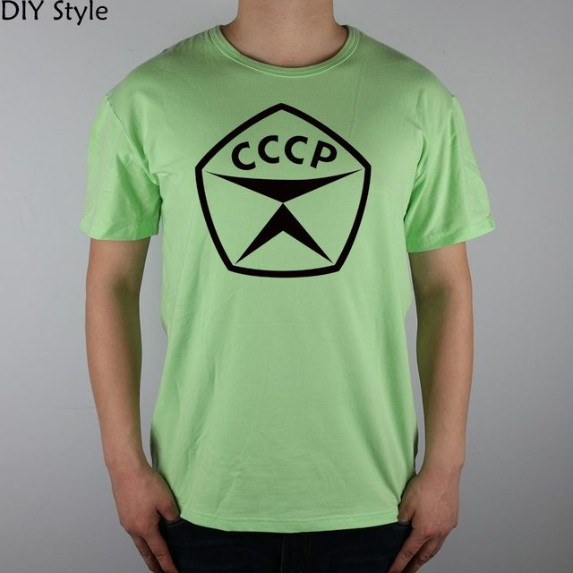 CCCP USSR PDTG T-shirt Top Lycra Cotton Men T shirt New Design High Quality Digital Inkjet Printing