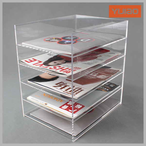 Acrylic File Folder Supplies Transparent File Holder Five Layer File  Cabinet Desktop Storage