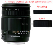 Lente zoom e foco manunal anel de borracha/aperto de borracha reparação succedaneum para sigma 18-250mm f/3.5-6.3 dc os hsm lente