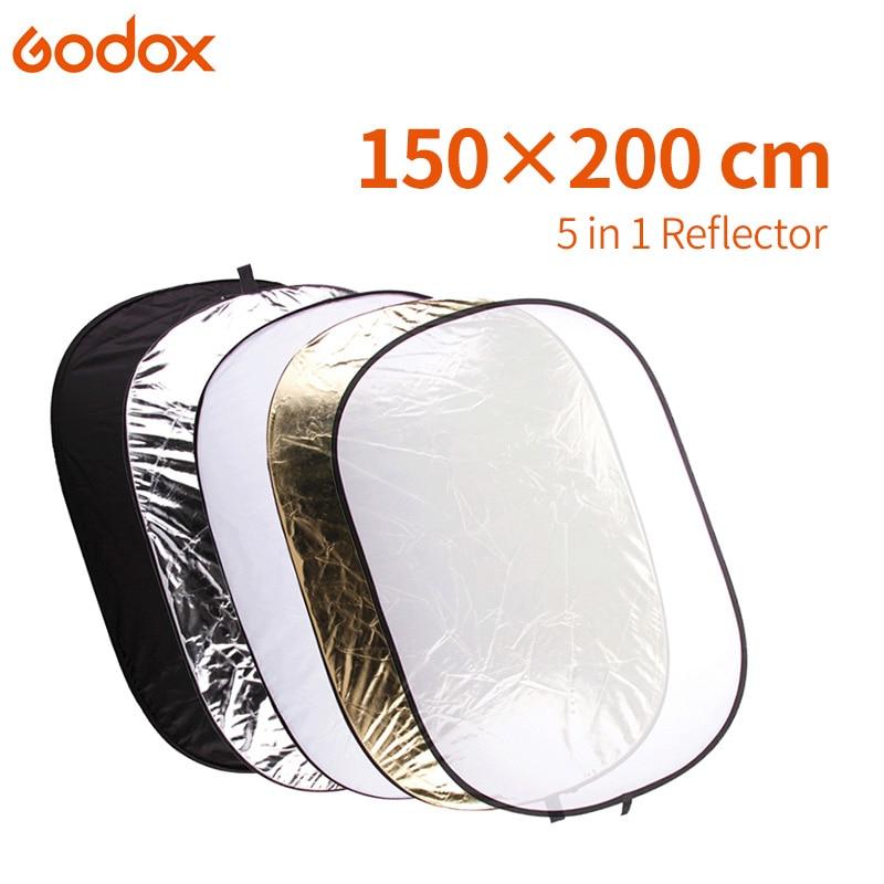 GODOX FT05 5in1 60 x 80 150x200 cm Portable Pliable Round Light Photographie Réflecteur pour Studio