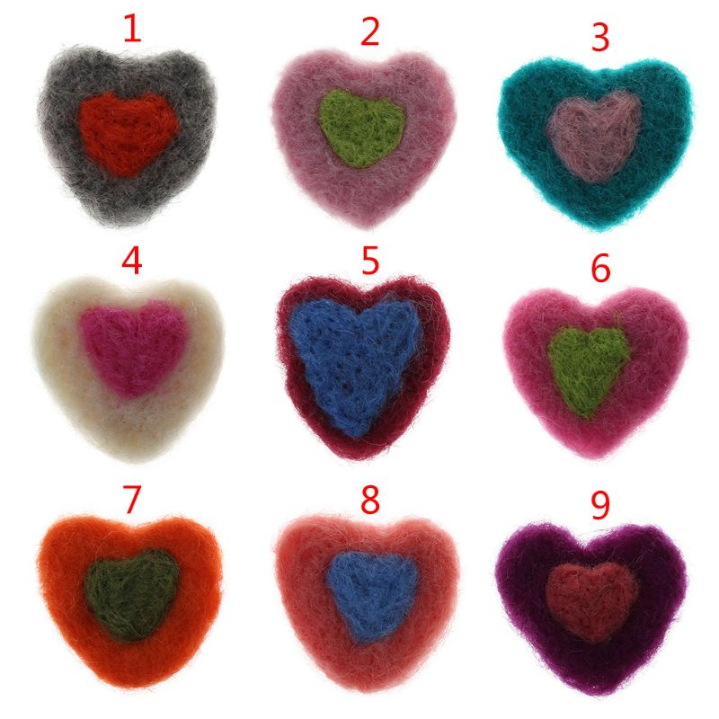 Fotografie Requisiten Fühlte Ball Handgemachte Multi-funktionale Baby Herz Form Woolen Diy Dekoration