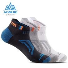 3 пары AONIJI E4101 Спорт на открытом воздухе бег Атлетическая производительность Tab тренировочная Подушка низкая шоу компрессионные носки прогулки Dri-FIT