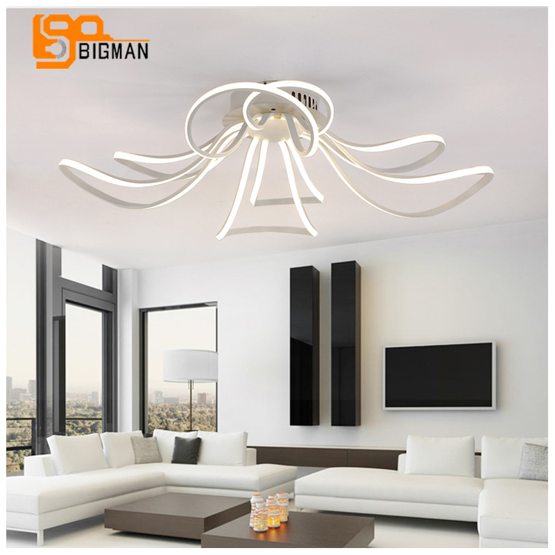 awesome belle conception led plafond lampe moderne luminaire plafonnier led salon lumires wideth. Black Bedroom Furniture Sets. Home Design Ideas