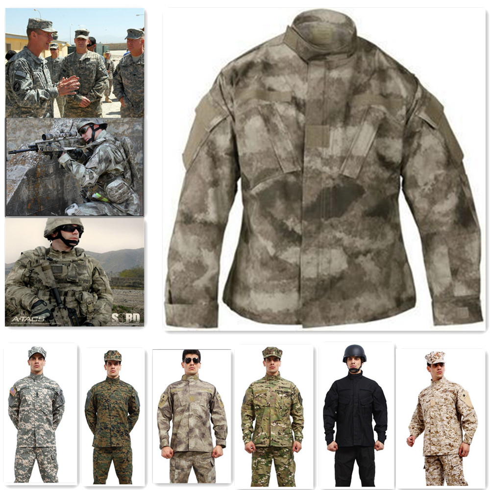 1set Multicam Tactical Military Combat Airsoft Uniform -Jacket & Pants Mens Camouflage Suit for Army Training Outdoor CS Wargame summer tactical camouflage army combat suit men typhone military uniform short sleeve militar airsoft paintball uniform set