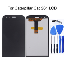 цена на 5.2 inch AAA For Caterpillar Cat S61 LCD Display Touch Screen Panel Digitizer for CAT S61 Screen lcd display Repair kit + Tools