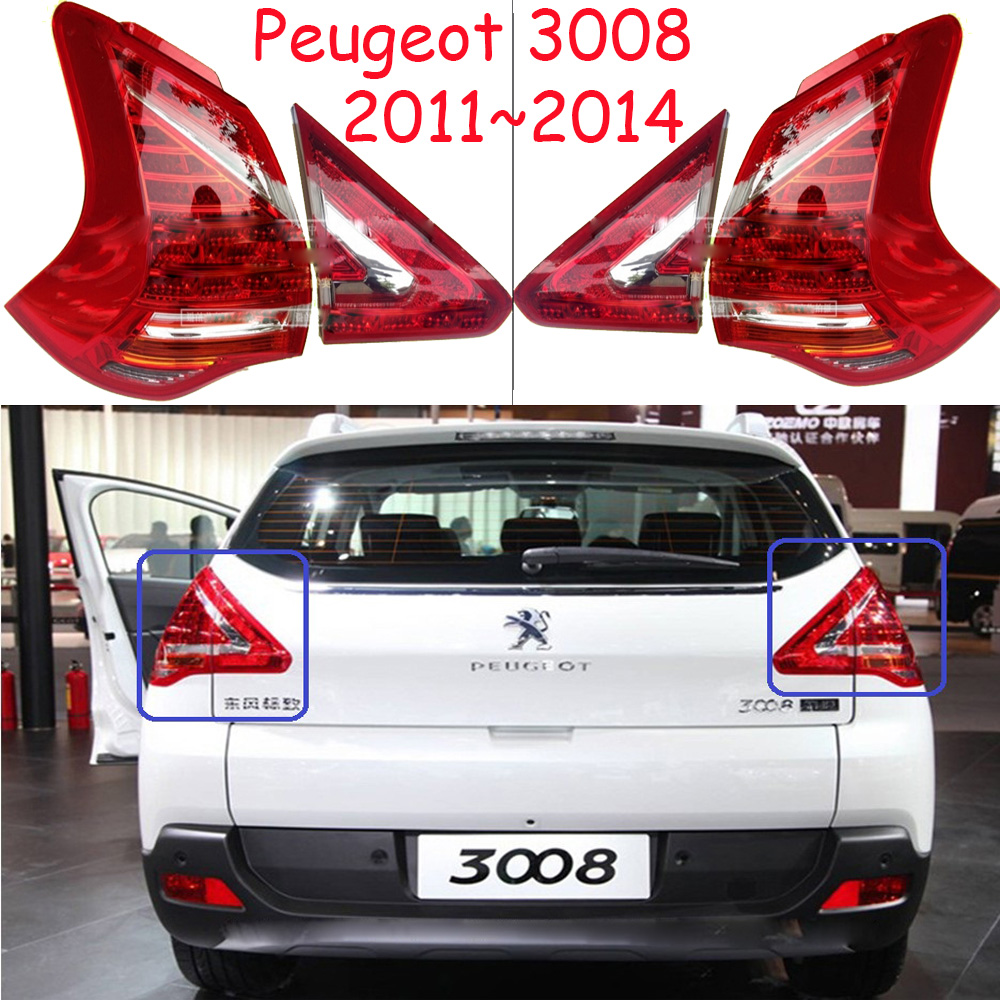 Peugeo 3008 taillight,2011~2014year,LED,Free ship!206 207 308 3008 408 4008 508 Raid RCZ,Partner,3008 rear lamp