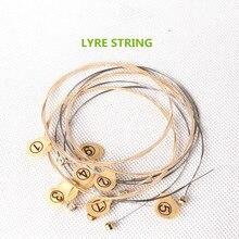 7 String Lyre String маленькая арфа аксессуары струны музыкальный инструмент зеленый инструмент Laiyaqin