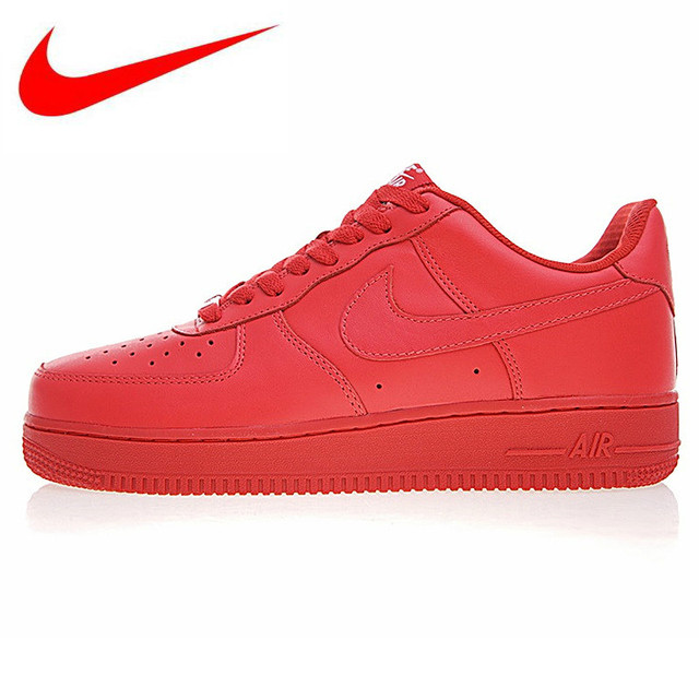 8213b2331 NIKE AIR FORCE 1 AF1 Men's and Women's Skateboarding Shoes, Wear-resistant  Non-slip Breathable Lightweight, Red AH6512 991
