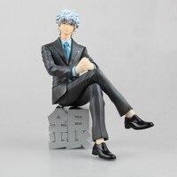 Anime Gintama Silver Soul MegaHouse G.E.M Sakata Gintoki Suit Ver. PVC Action Figure Collectible Model Kids Toys Doll 15cm