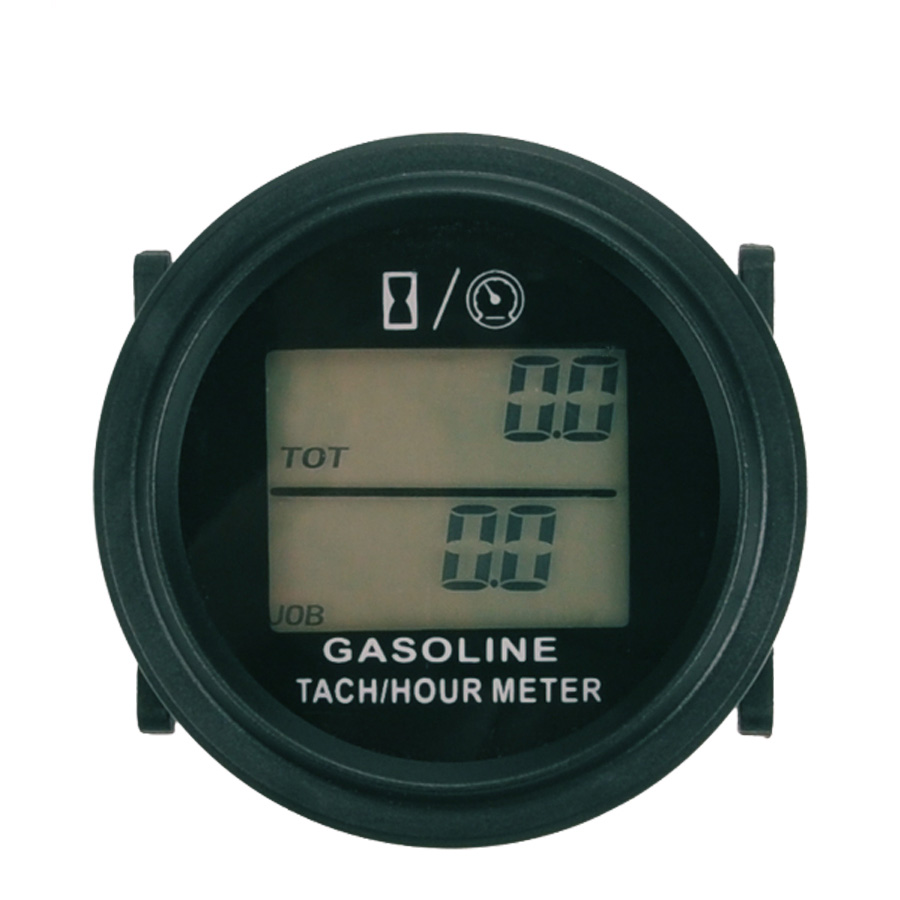 Free Shipping large LCD backlight Hour Meter Tachometer For Gas Engine 2/4 Stroke Motorcycle ATV Boat Snowmobile Marine mower digital hour meter waterproof lcd display for bike motorcycle atv snowmobile marine boat ski dirt gas engine new inductive