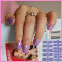 Purple 24 Pcs Artificial False Fake Nails