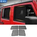 MOPAI боковые оконные шторы для Jeep Wrangler JK 2007 + анти УФ Солнцезащитный козырек от солнца для Jeep JK Wrangler аксессуары