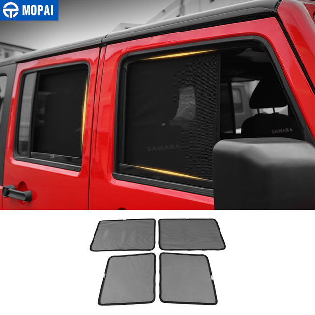 MOPAI Side Window Sunshades for Jeep Wrangler JK 2007+ Anti UV Sun Windshield Sunshade Cover for Jeep JK Wrangler Accessories