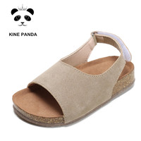 KINE PANDA Kids Sandals Girls Summer Shoes Toddler Baby Girl Sandals Beach Anti slide Casual Cork 1 2 3 4 5 6 7 8 9 Years Old