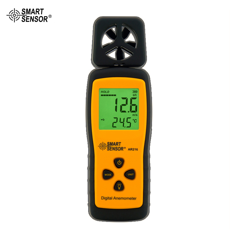 Portable Digital Anemometer Wind Speed Meter AR216