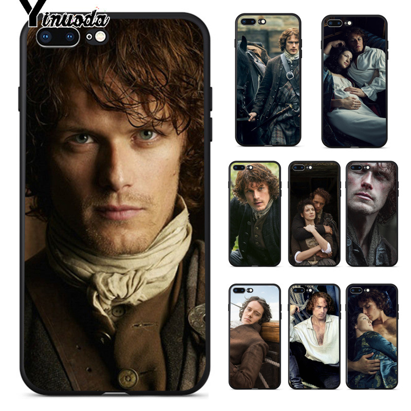 Yinuoda OUTLANDER tv hot Jamie Fraser TPU Soft Phone Accessories Cell Phone Case for iPhone 8 7 6 6S Plus 5 5S SE XR X XS MAX