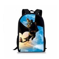 New kids 'backpack 드래곤을 훈련시키는 방법 십대 책 가방을위한 인쇄 된 배낭 폴리 에스테르 여행 가방 어린이 학교 가방