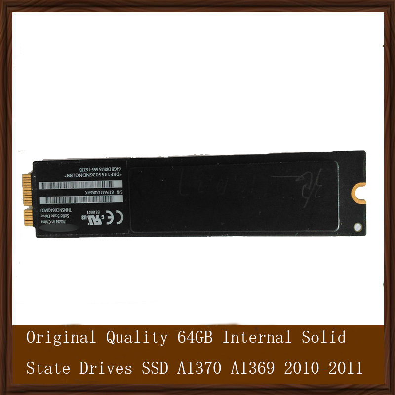 Original Quality 64GB Internal Solid State Drives SSD For Macbook Air 11'' 13''   A1370 A1369 2010-2011