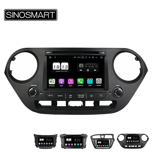 SINOSMART 4/8 Core 2G/4G RAM Android 8,1/8,0 coche DVD navegación GPS para Hyundai I10 /I20/I30/140/2010-2015 No Canbus