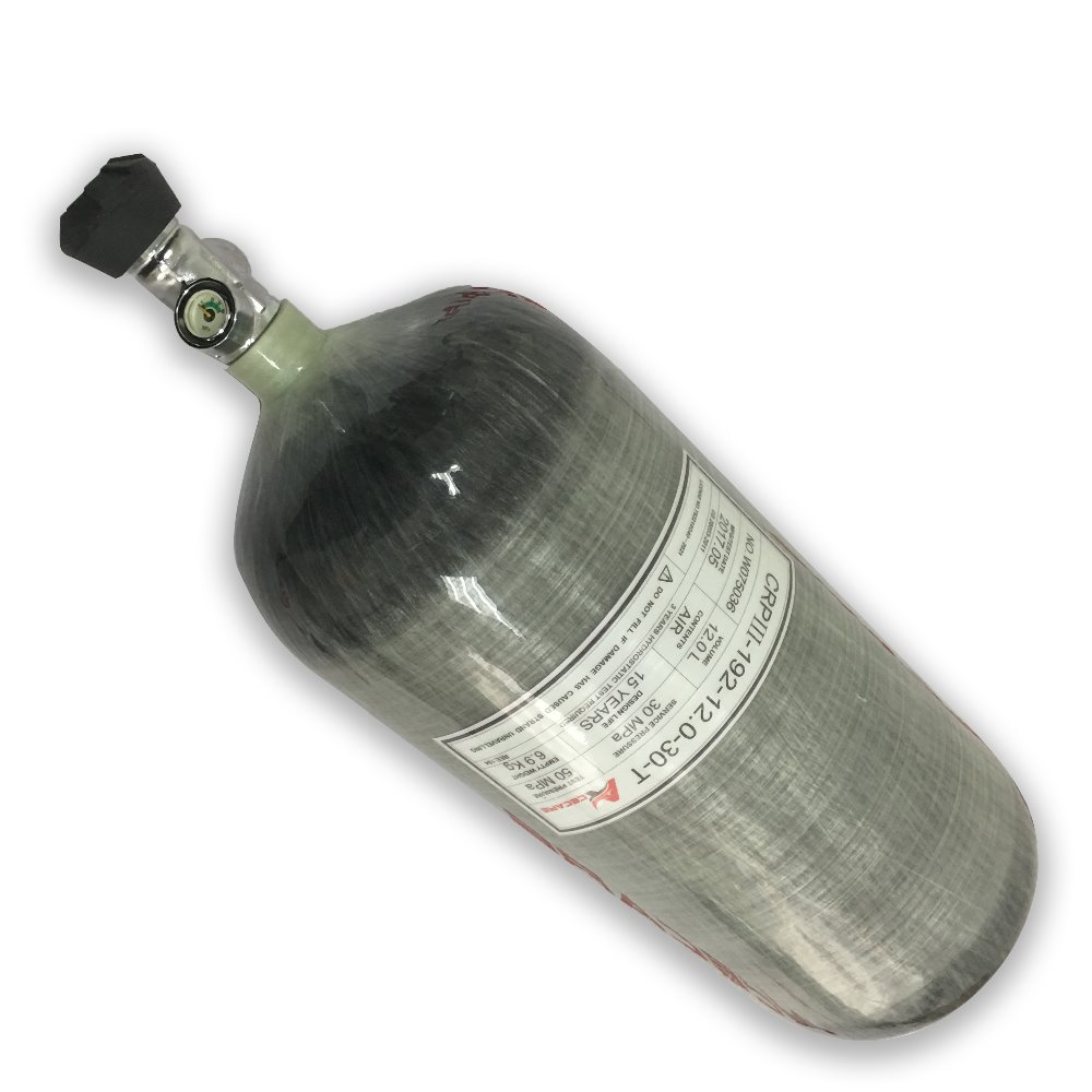 Acecare AC3120 Scuba Tank 12L GB Carbon Fiber Cylinder 4500psi 300bar Bottle With Gauge Valve