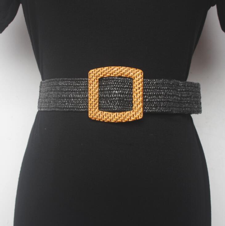 Women's Runway Fashion Knitted Cummerbunds Female Dress Corsets Waistband Belts Decoration Wide Belt R1532