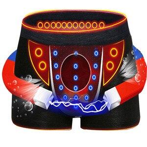 Image 1 - 3 adet Yüksek Kaliteli Pantolon erkek iç çamaşırı Turmalin Buz Ipek Nefes erkek Seksi Iç Çamaşırı İngiliz Manyetik Terapi Boxer