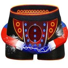 3 peças de alta qualidade calças masculinas roupa interior turmalina seda gelo respirável cueca masculina sexy britânico terapia magnética boxer