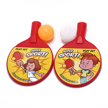 Novelty Child Dual Plastic Table tennis pingpong Racket Baby Sports kids Child Sports Top Recommended 1 pair(China)