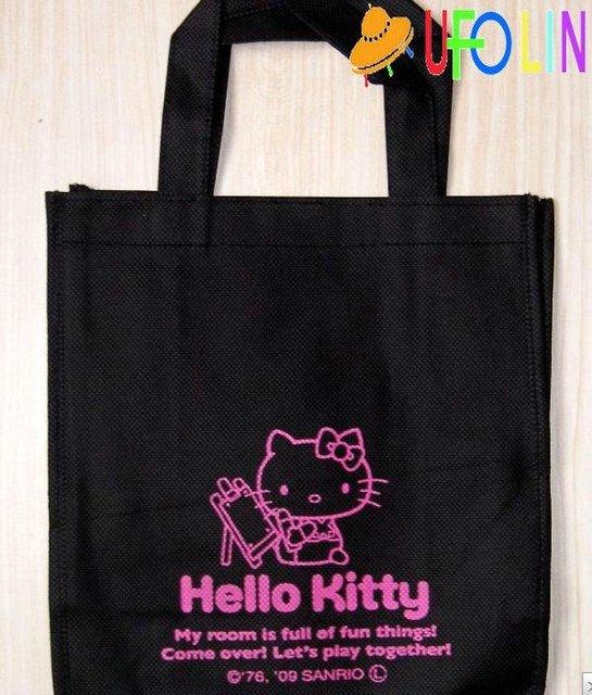 53ac6ff9c17f Free Shipping  New hello kitty nonwoven fabric shopping bag   Shoulder bag Shopping  Handbag Cute Style Wholesale