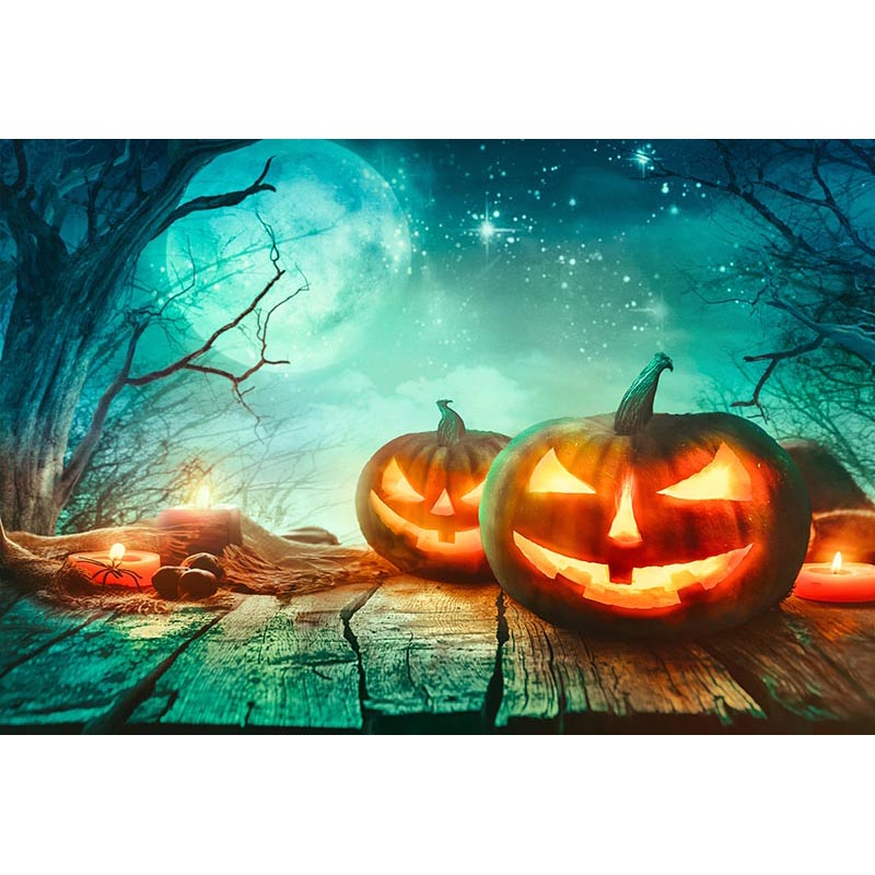 MEHOFOTO Custom Photography Backdrops Props Halloween day Wooden Floor Moon Pumpkin theme Photo Studio Background allenjoy background for photo studio full moon spider black cat pumpkin halloween backdrop newborn original design fantasy props