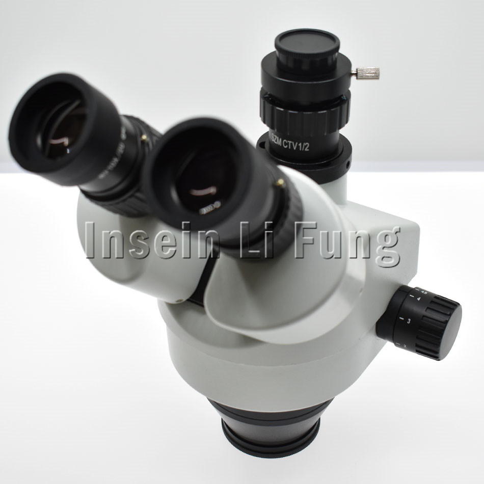 Binocular Continuous Zoom 7X-45X Trinocular Stereo Microscope Head Simul-focal Industrial Microscope WF10X 20mm Eyepiece Lens 0 7x 4 5x continuous zoom electronic digital microscope ccd camera eyepiece zoom lens magnification