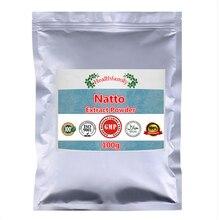 トップ品質納豆抽出ナットウキナーゼ酵素粉末、高値健康栄養補助食品、こだわり人間維持フィット