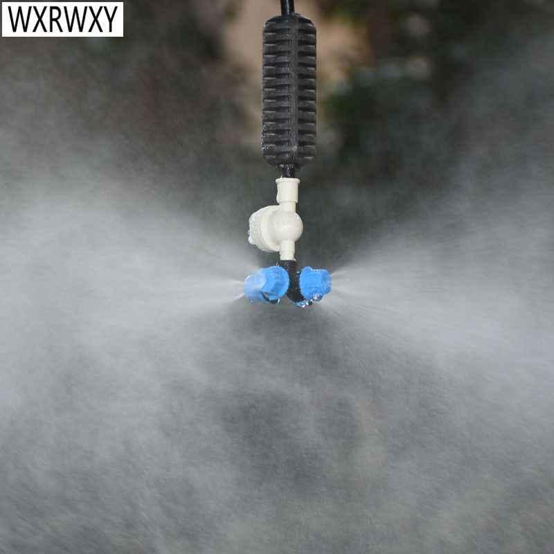 Szklarnia wisząca dysza zamgławiająca kroplówka krzyżowa dysza mgielna rozpylacz wody do systemu nawadniania kropelkowego szklarni 1 zestaw