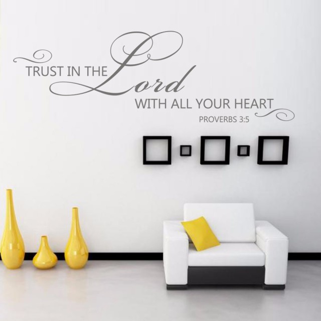 Scripture Wall Decals   Trust In The Lord   Proverbs 3: 5 6 Vinyl