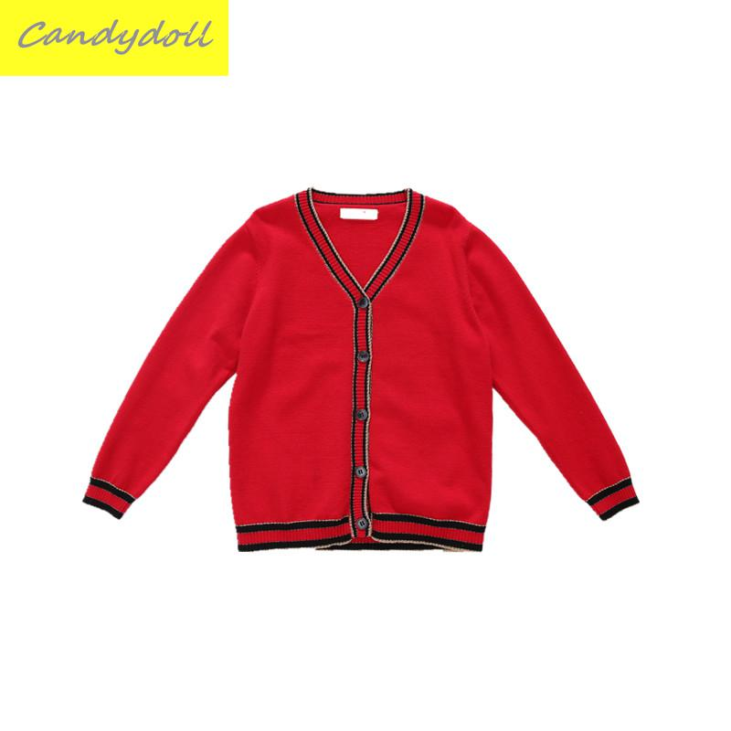 New arrival Fall/Spring Children's Sweater Cardigan Sweater Cardigan Girls Wear Long Sleeved Sweater 5-10Y edition in the fall of new women s wear long sleeved sweater knit render unlined upper garment female hedge brief paragraph