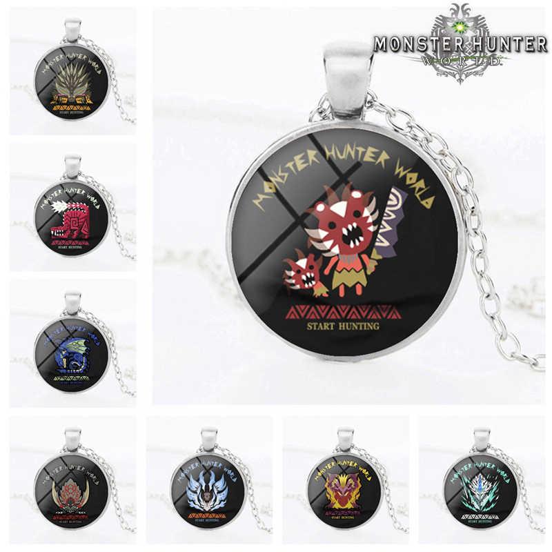 24pcs Monster Hunter World Cartoon Characters Time Gem Necklace Pendant Custom Game Anime Around Aliexpress