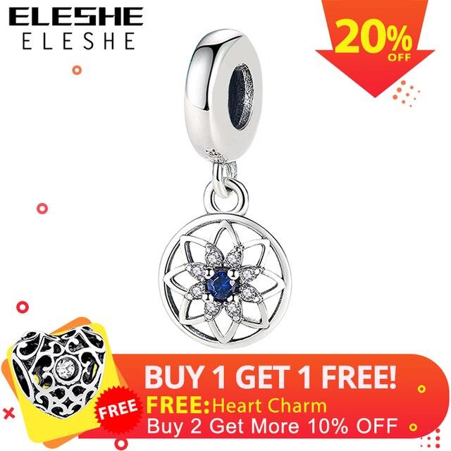 336ddee93703 € 3.6 20% de DESCUENTO|ELESHE nuevo 30 años de amor encanto claro CZ Beads  Fit Pandora encantos de plata 925 Original pulsera collar DIY joyería ...