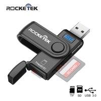 Rocketek USB 3.0 Multi Memory Card Tipo de lector de OTG c Android lector de tarjetas de adaptador de Micro SD / TF de los lectores microSD ordenador PC