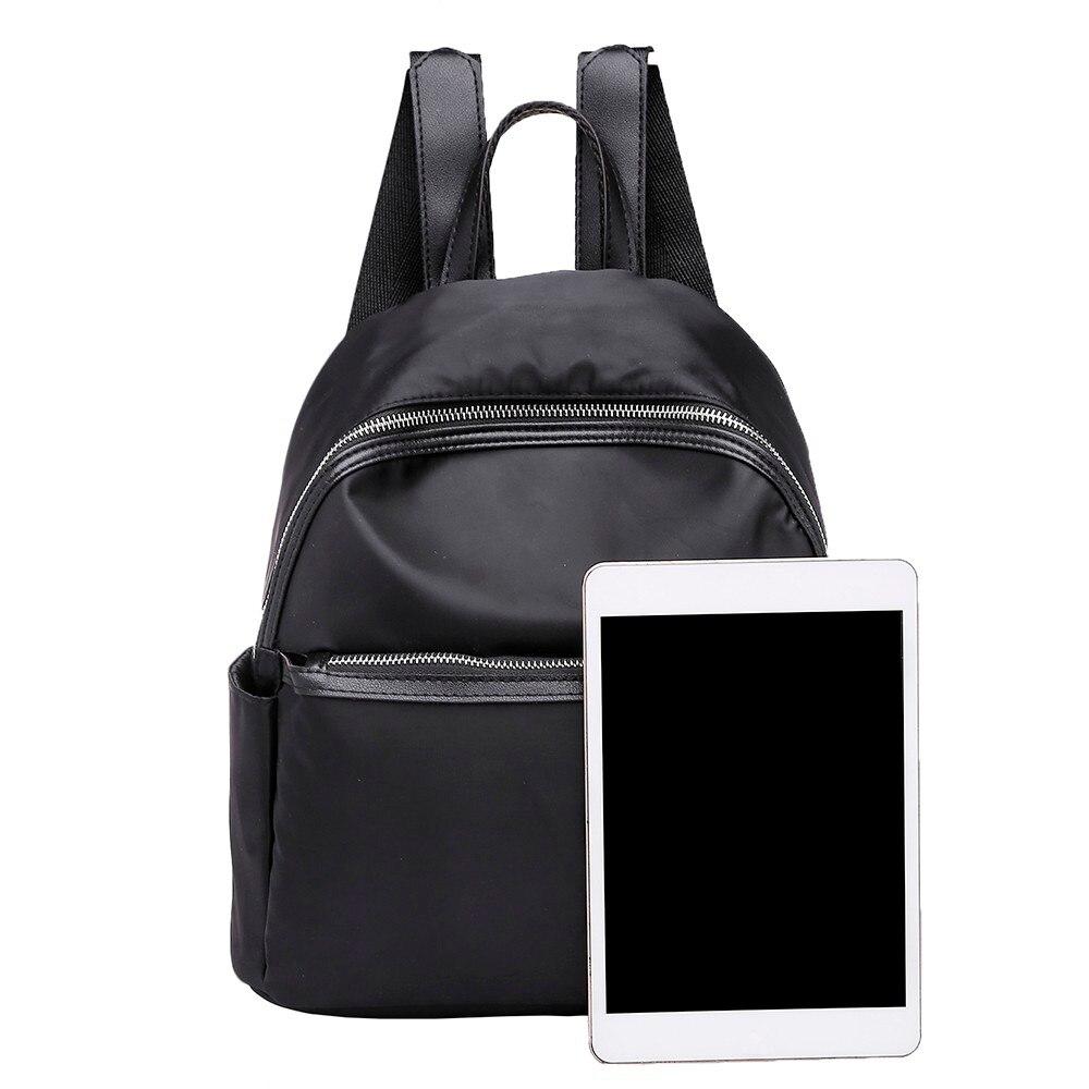 Women Backpack High Quality Nylon Leather Backpacks For Teenage Girls Female School Shoulder Circular Bag Mochila 18sep #3