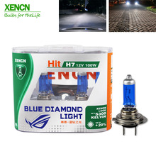 XENCN H7 12V100W 5300K Xenon Blue Diamond Light Off Road Use Car Headlight High Power UV Filter Halogen Super White Head Lamp