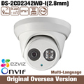 HIK Original English Ds-2cd2342wd-i 2.8mm 4mp Poe Ip Camera Cctv Infrared Uk Cmos Night Onvif Roi 1080p support upgrade