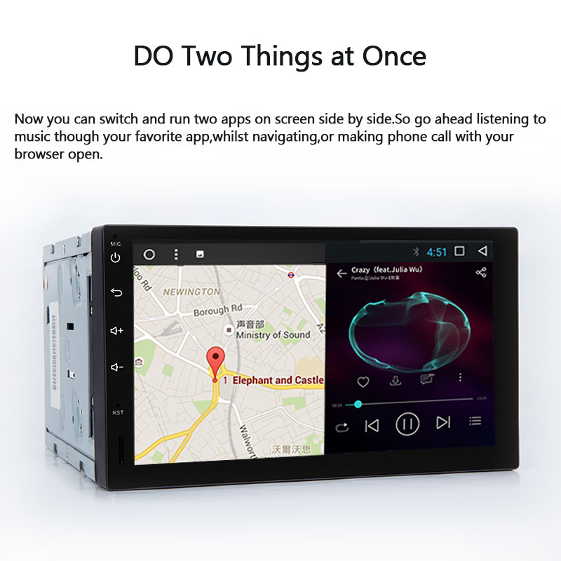 US $207 37 21% OFF 2 din Android 8 0 Car Multimedia Head Unit For Nissan  Note Xtrail Qashqai Almera Audio Tape Recorder GPS Navigation 4G Wifi  DAB+-in