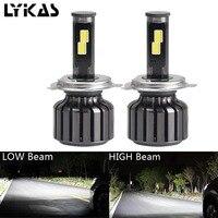 2pcs H4 Lamps Car Led Headlight 9003 HB2 Hi Lo COB Led 90W 9000LM 6000K Led