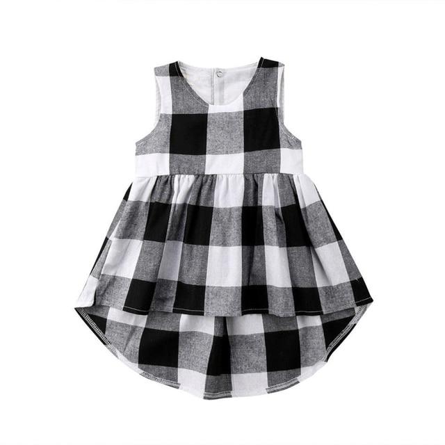 4cb5ac05e3da Adorable Kids Baby Girl Sundress Kid Black   White Checked ...