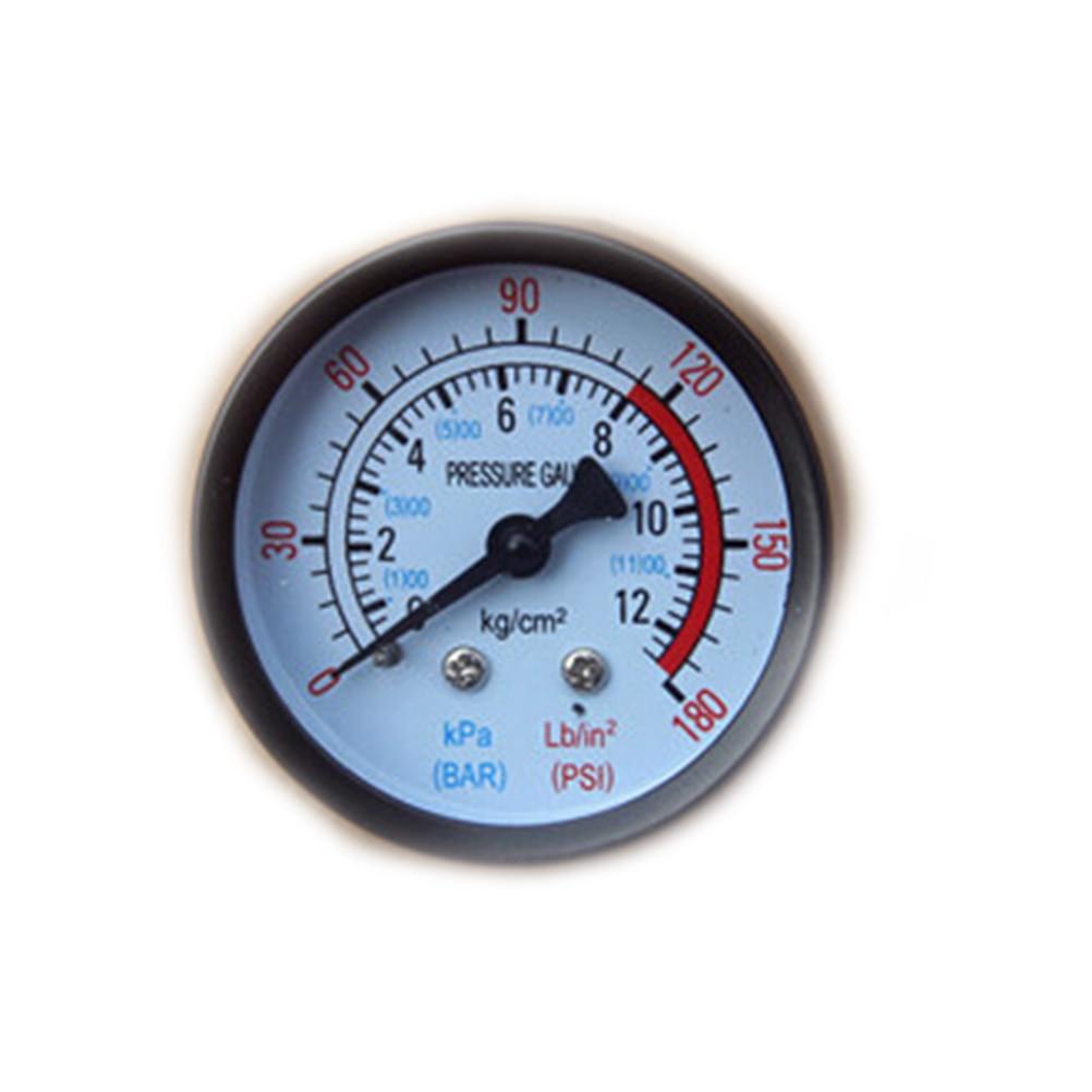 Air Compressor Pneumatic Hydraulic Fluid Pressure Gauge 0-12Bar / 0-180PSI