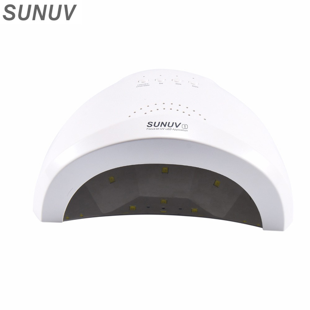 Original SUNUV SUNONE 48W Nail Dryer White Light 365nm+405nm UV Lamp Curing Both LED Gel UV Gel Professional Nail Lamp