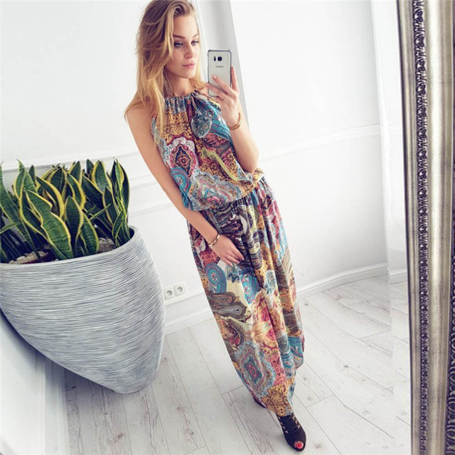 a180dc4859 2018 HOT sell Dress summer beach dress Womens Summer Vintage Boho Long Maxi  Evening Party Beach