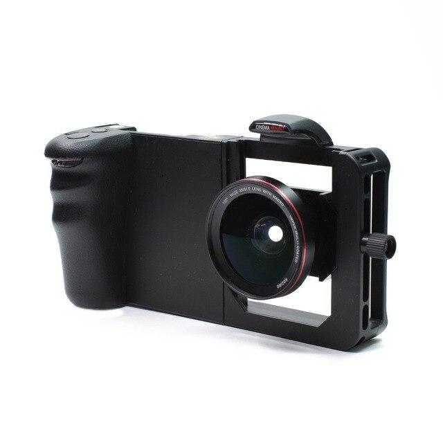 משותף ארנב כלוב Smartphone מצלמה מייצב וידאו Rig צילומי כלוב + עדשה עבור Xiaomi iPhone טלפון estabilizador דה מצלמה
