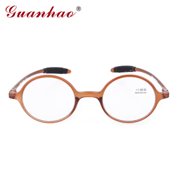 Guanhao Brand Fashion Retro Reading Glasses Men Women Ultralight Rimless Reading Glasses HD Resin Computer Eyewear Accessories