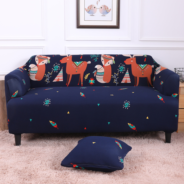 Slipcovers Sofa Cover Elastic Cartoon Animals Pattern Stretch Form